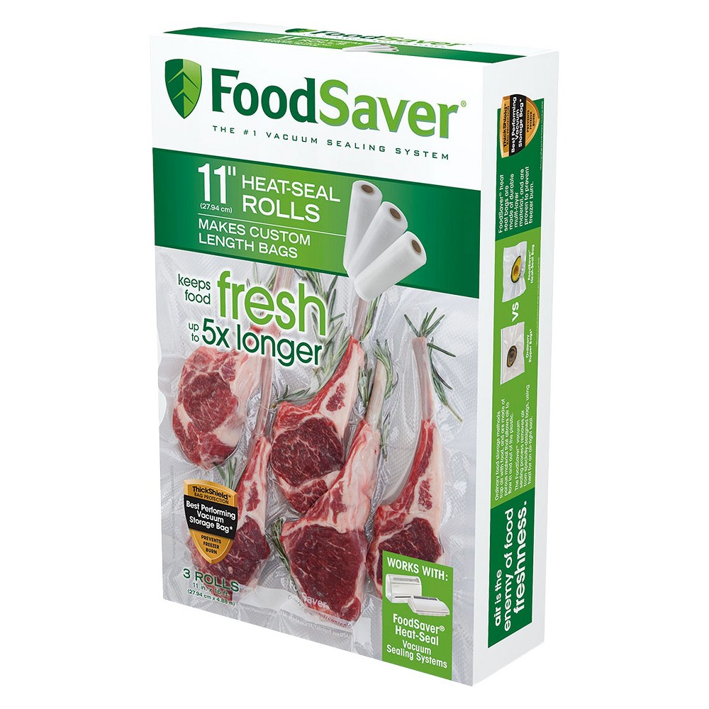 FoodSaver 3ct 11 x 16′ Heat-Seal Roll, Clear 15093030