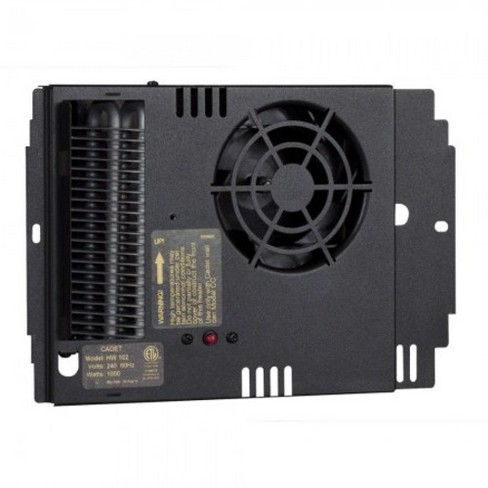 Cadet HW101 3412 BTU 120 Volt 1000 Watt Fan-Forced Wall Heater Assembly - Black - image 1 of 1