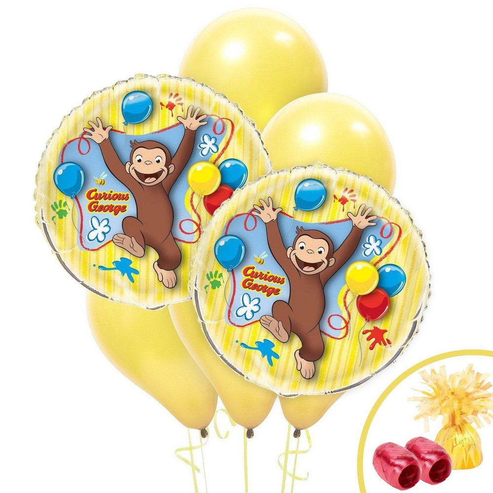 Best Buy Curious George Jumbo Balloon Bouquet Multi Colored