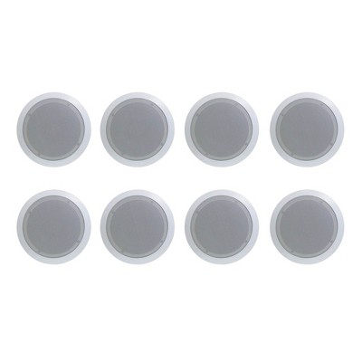Pyle PDIC61RD 6.5'' 200W PRO Max 2-Way Round In-Ceiling/Wall Speaker, 4 Pack