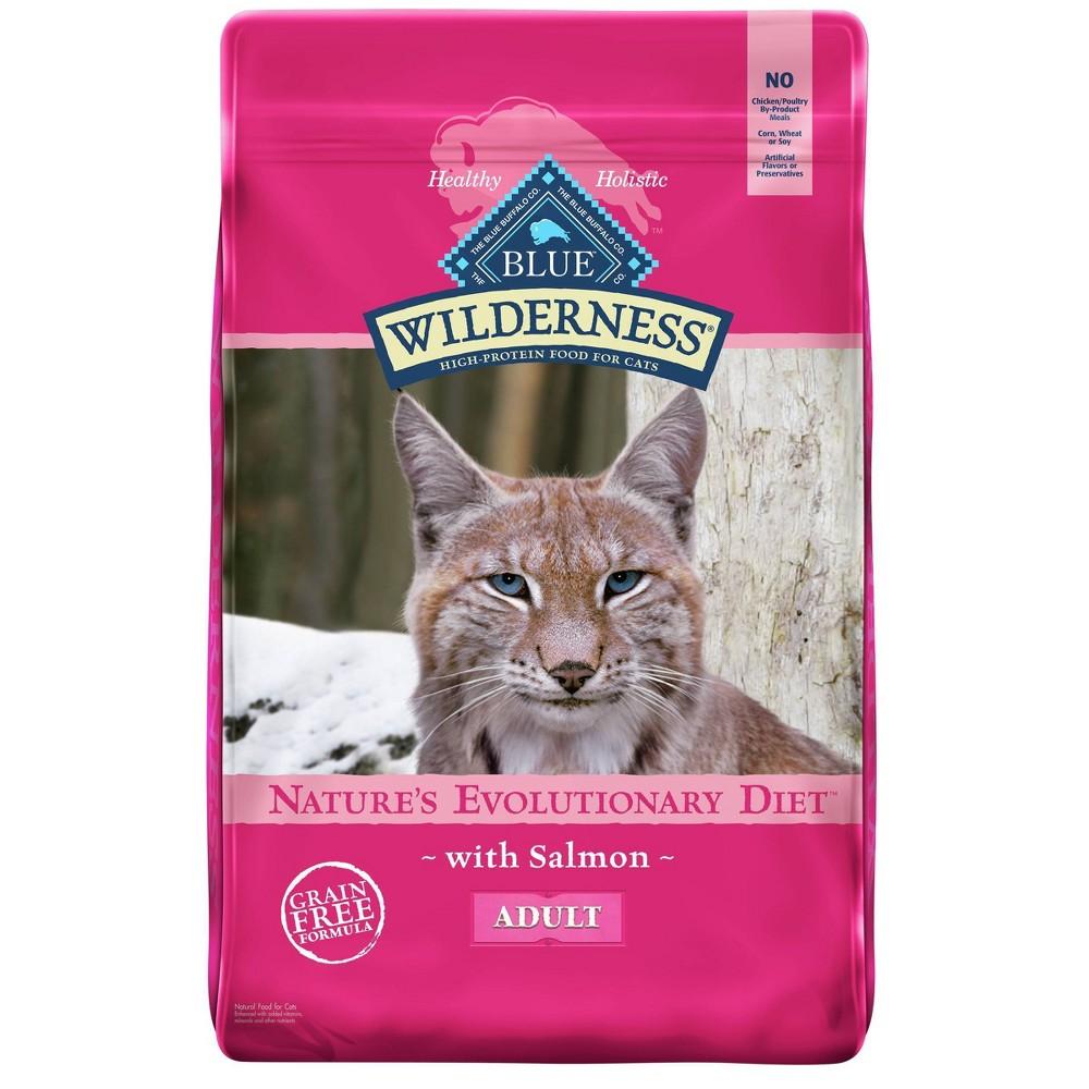 Blue Buffalo Wilderness Grain Free Salmon Adult Premium Dry Cat Food 9 5lbs