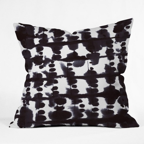 Black Splatter Throw Pillow - Deny Designs - image 1 of 1