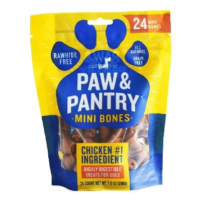 Paw & Pantry Chicken Mini-Bones Dog Treats - 24pk