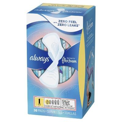 Always Infinity Pads - Regular Absorbency - Size 1 : Target