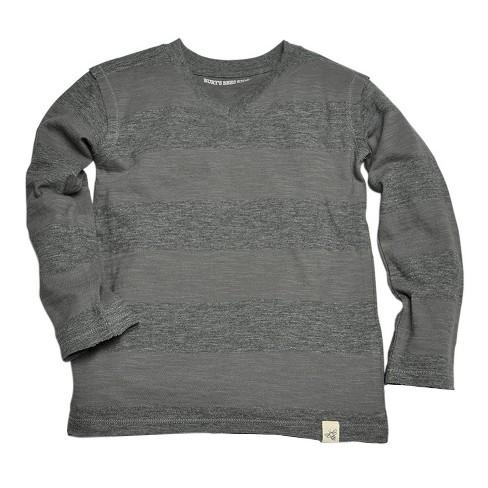 Burt's Bees Baby Boys' Long Sleeve T-Shirt Charcoal 7 - image 1 of 1