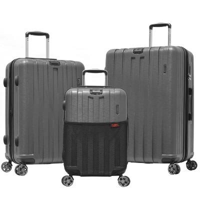Olympia USA Sidewinder 3pc Luggage Set - Gray