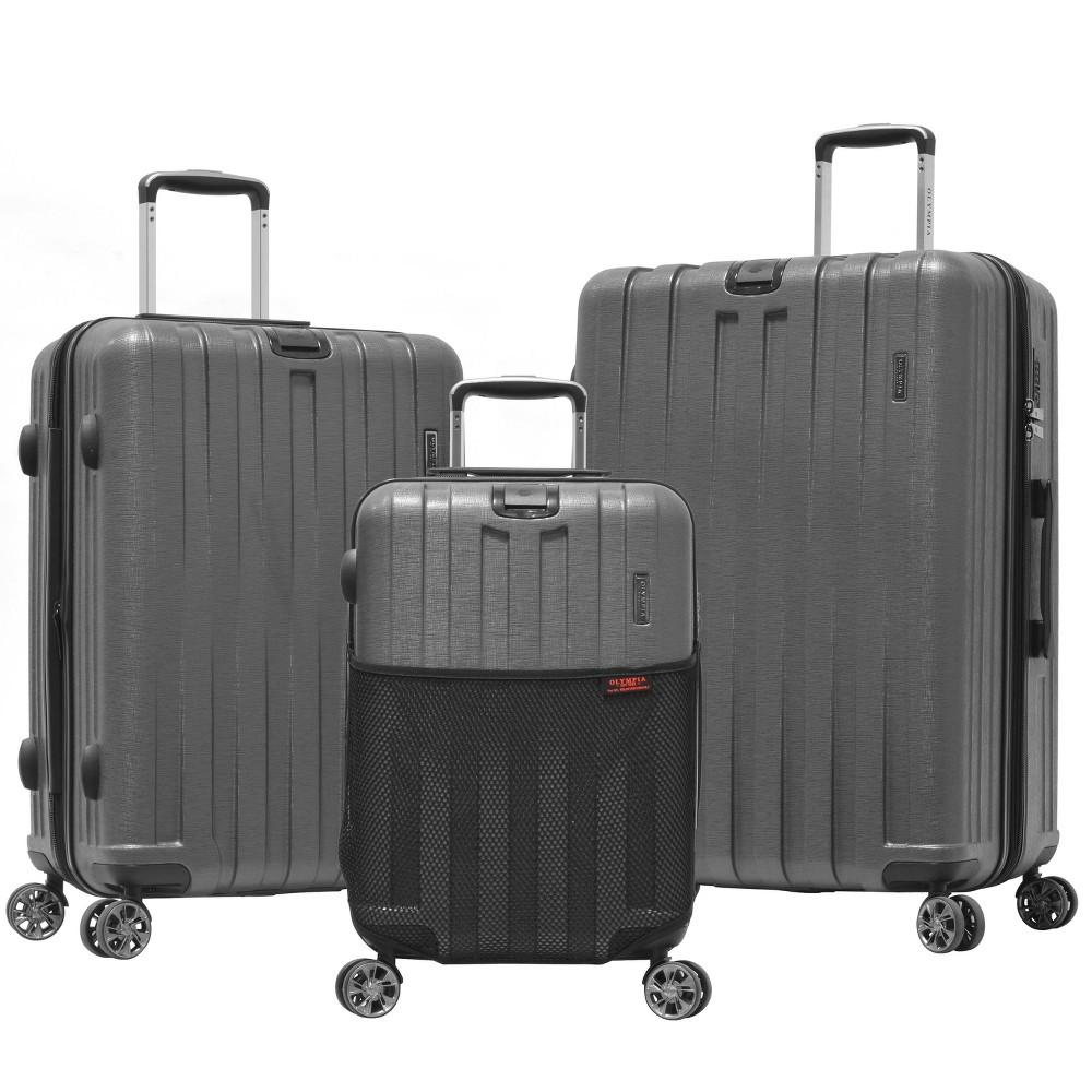 Image of Olympia USA Sidewinder 3pc Luggage Set - Gray