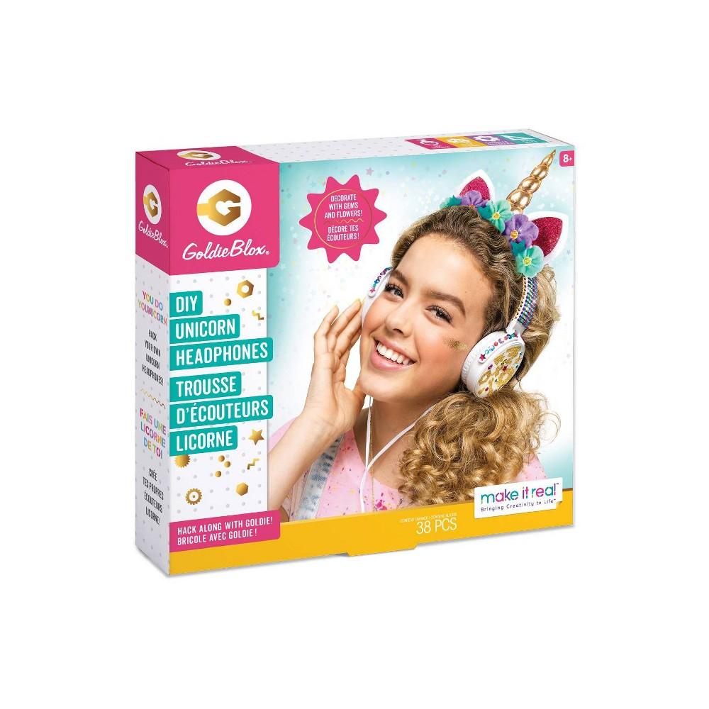 Image of Make it Real Goldie Blox Unicorn Headphone Kit