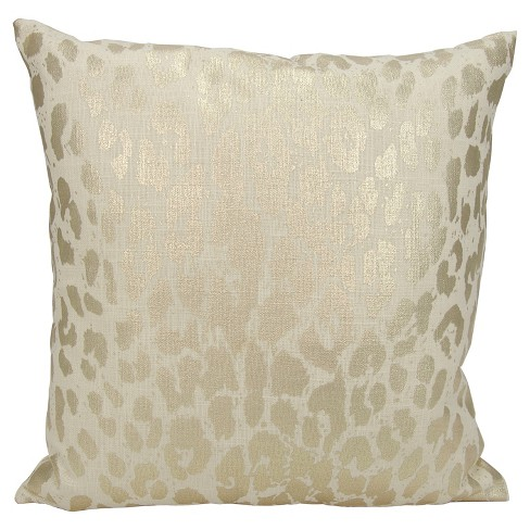 "18""x18"" Metallic Leopard Throw Pillow Gold - Mina Victory - image 1 of 2"