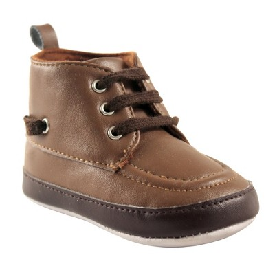 Luvable Friends Baby Boy Crib Shoes, Brown