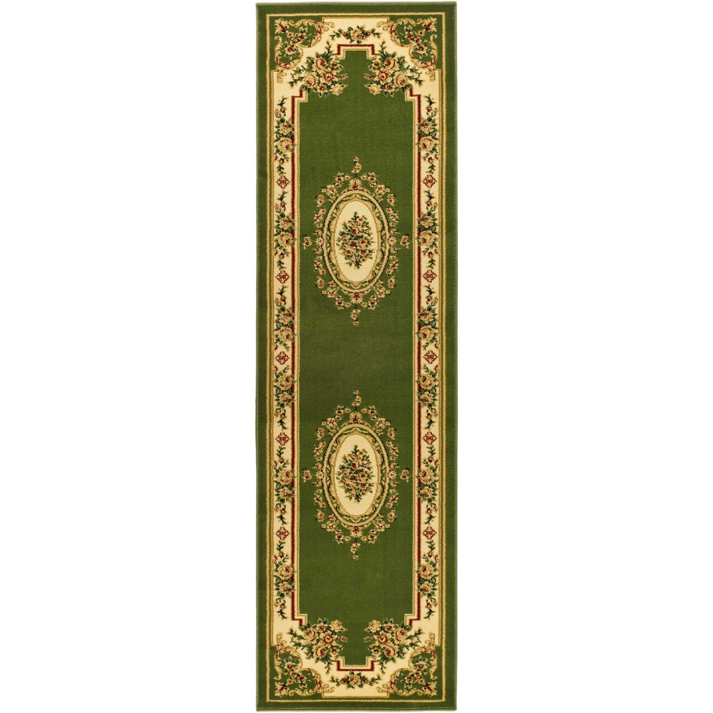 2'2X8' Loomed Medallion Runner Rug Sage/Ivory (Green/Ivory) - Safavieh