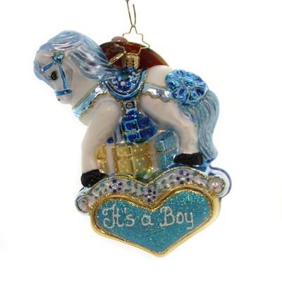 "Christopher Radko 5.25"" Pastel Price Pony It's A Boy  -  Tree Ornaments"