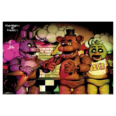 five nights at freddy s band poster 34x22 trends international