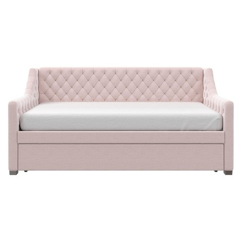 Little Seeds Monarch Hill Ambrosia Upholstered Daybed And Trundle Pink - image 1 of 8