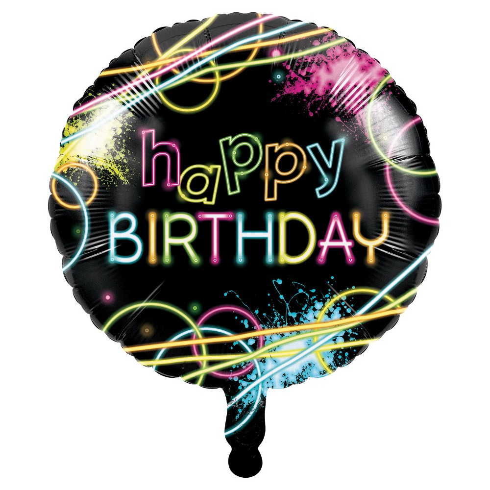 Glow Party Mylar Balloon, Balloons and Balloon Accessories