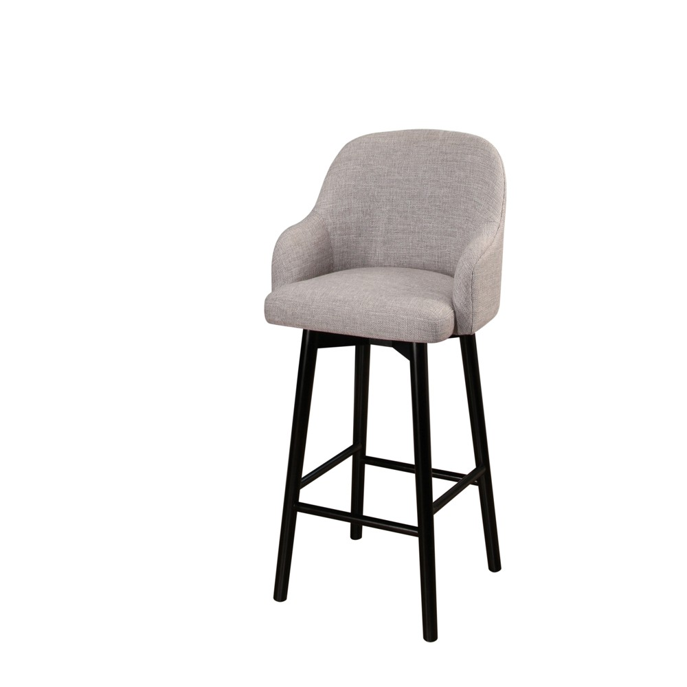 Image of 32 Baylee Upholstered -Inch Bar Stool - Gray - Abbyson