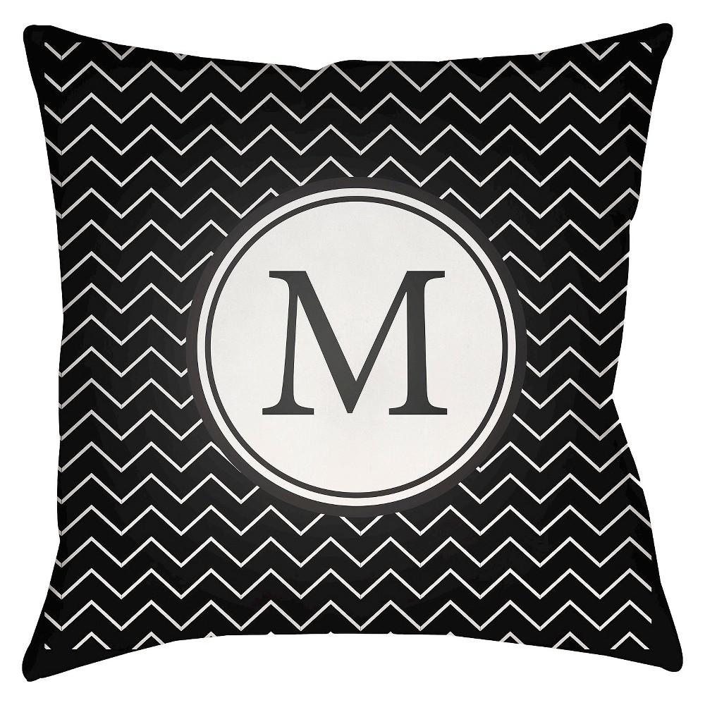 White Mu Throw Pillow 18