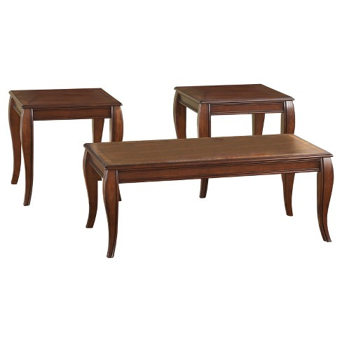 Mattie Table (Set of 3) - Reddish Brown  - Signature Design by Ashley - image 1 of 2