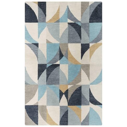 Midland Geometric Wool Area Rug - Rizzy Home - image 1 of 4