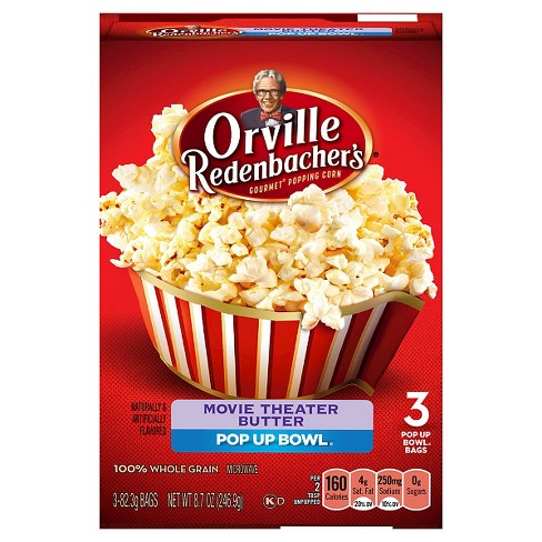 Orville Redenbacher's Movie Theater Butter Popcorn Pop Up Bowl 3ct - 8.7oz - image 1 of 1