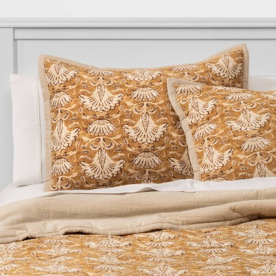 Threshold™ Velvet Warm Gold Print Sham