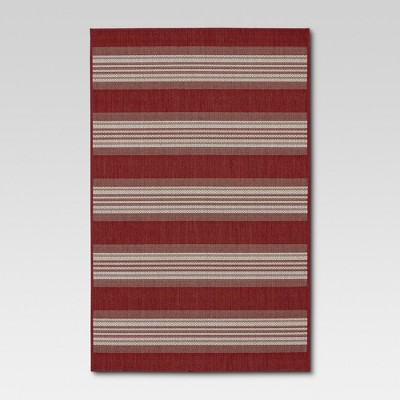 Bold Stripe Red Outdoor Rug - 9'x12' - Threshold™