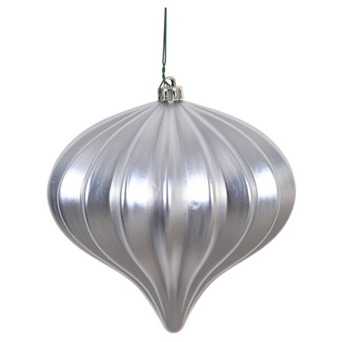 3ct Silver Shiny Onion-Shaped Christmas Ornament Set - image 1 of 1
