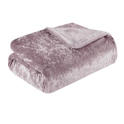 Lavender Crushed Velvet Plush Throw Pillow (50 x60 )