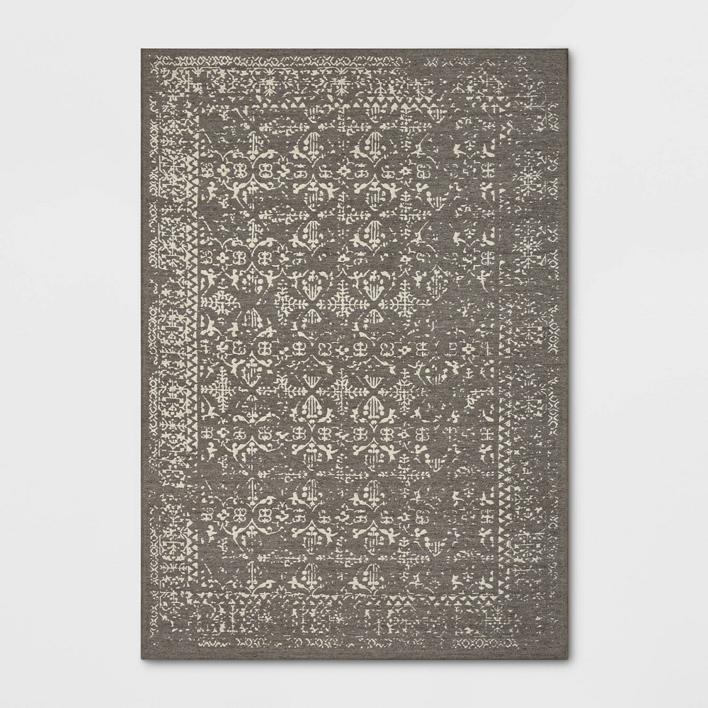 7'x10' Comerford Distressed Jacquard Persian Wool Woven Area Rug - Threshold was $199.99 now $99.99 (50.0% off)