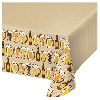 Cheers & Beers Plastic Tablecloth