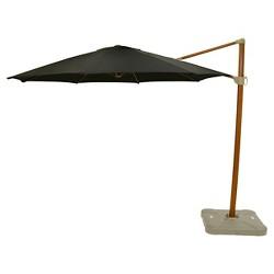 11' Offset Sunbrella® Umbrella - Canvas Black - Medium Wood Finish - Smith & Hawken™
