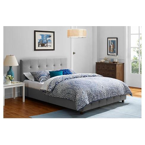 Rosalie Linen Upholstered Bed Queen Gray Room Joy Target