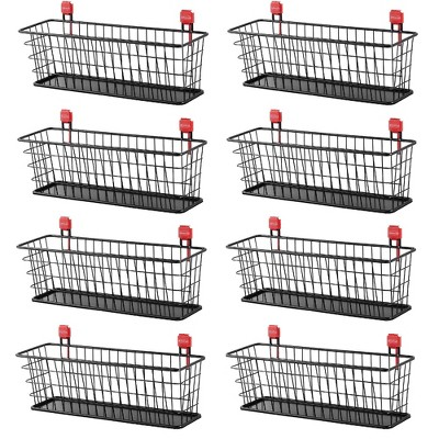 Rubbermaid Wall Mounted Storage Shed Small Wire Basket Tool Organizer (8 Pack)