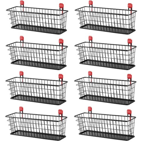 Rubbermaid Wall Mounted Storage Shed Small Wire Basket Tool Organizer 8 Pack Target