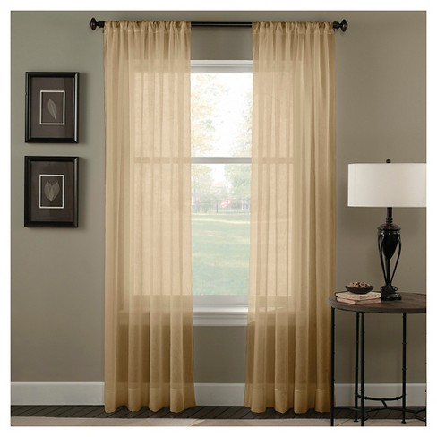 Curtainworks Trinity Crinkle Voile Curtain Panel - image 1 of 1