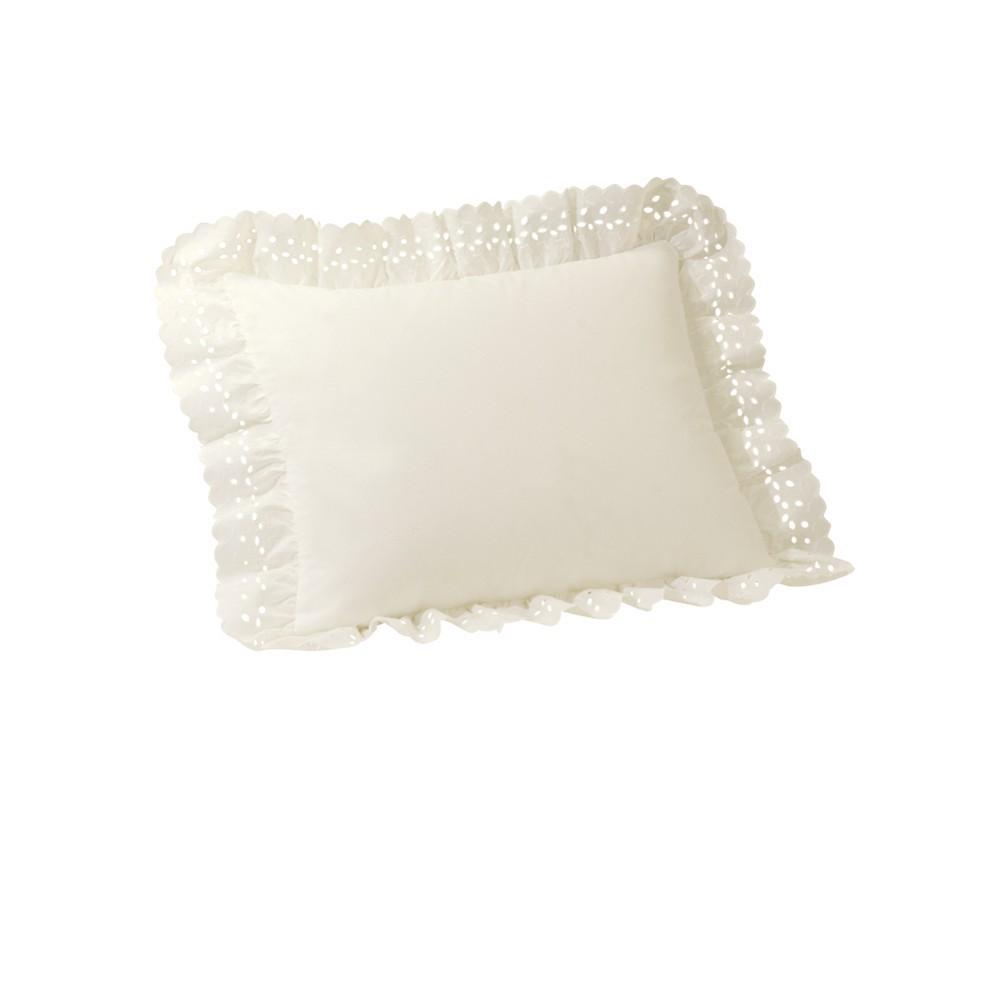 Image of Eyelet Bone Euro Sham - Ivory (Euro)