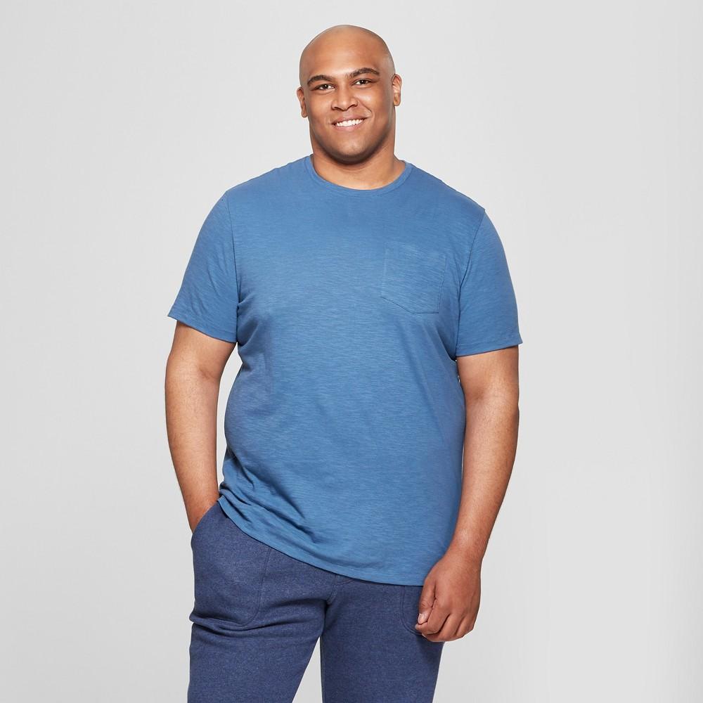 Men's Tall Short Sleeve Pocket Crew Neck T-Shirt - Goodfellow & Co Waterloo Blue LT