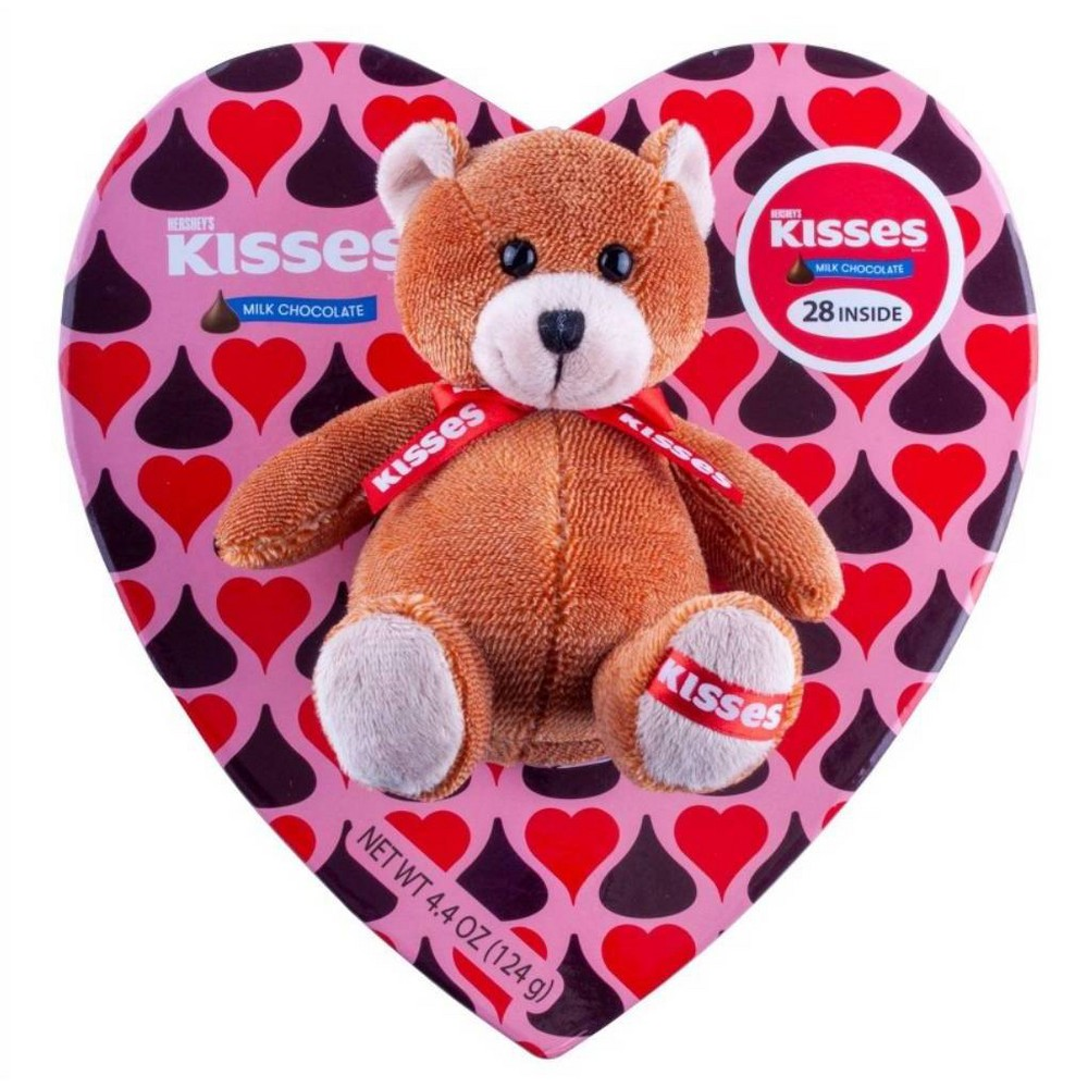 Hershey's Kisses Valentine's Heart Box with Plush and Kisses - 4.06oz