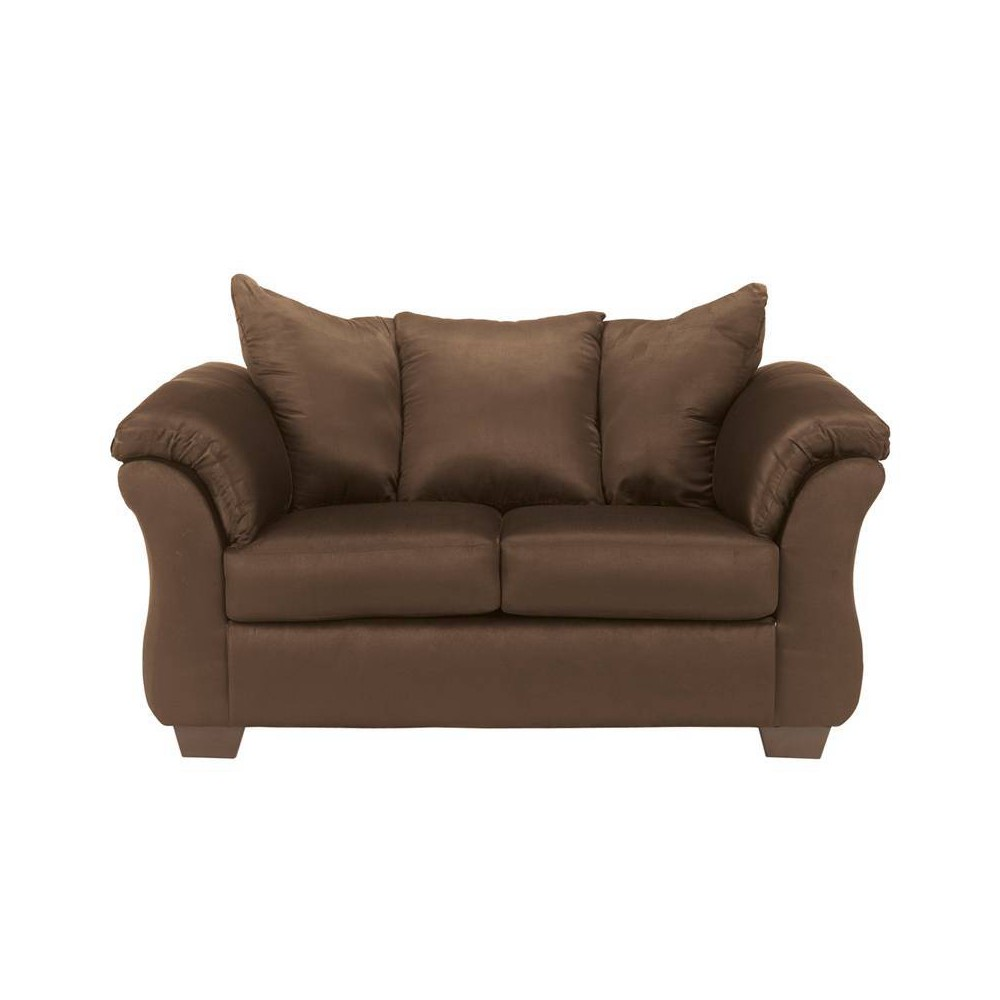 Riverstone Furniture Collection Microfiber Loveseat Coffee Brown