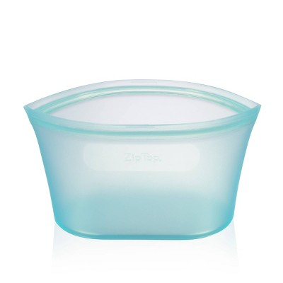 Zip Top 32oz Reusable 100% Platinum Silicone Container - Large Dish - Teal