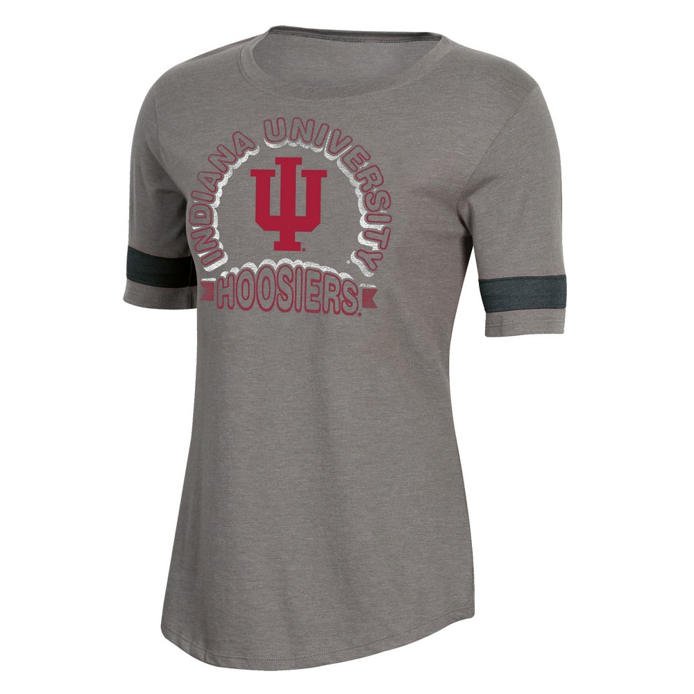 NCAA Women's Short Sleeve Scoop Neck T-Shirt Indiana Hoosiers - L, Multicolored