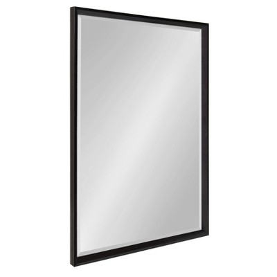 "26"" x 38"" Calter Framed Wall Mirror Black - Kate and Laurel"