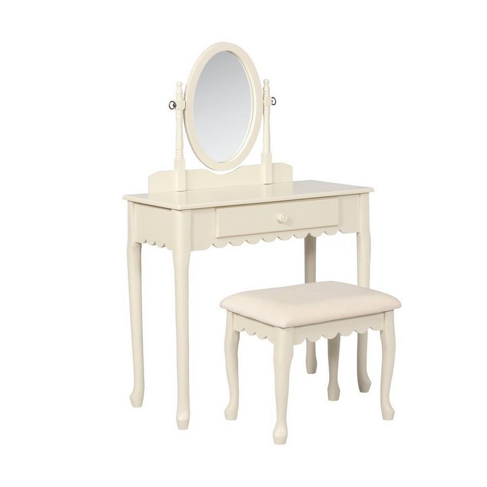 Ellie Youth Vanity Set White - Linon