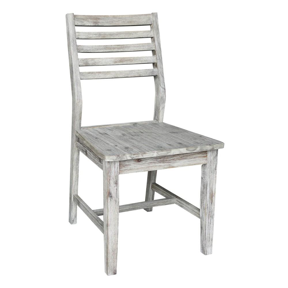 Modern Rustic Ladderback Chair Rustic Gray - International Concepts