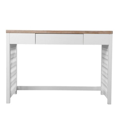 Leine Writing Desk Natural/White - Aiden Lane