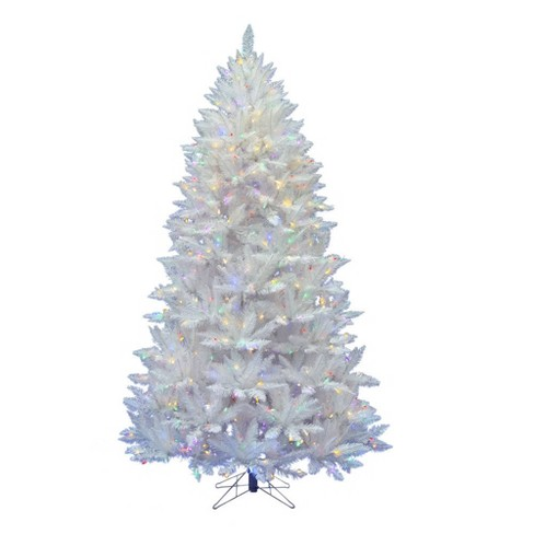 7.5ft Pre-Lit Artificial Christmas Tree Full Sparkle White Spruce - with 550 Multi-Colored LED Lights - image 1 of 2