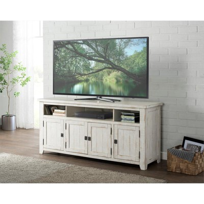 """Nantucket 65"""" Solid Wood TV Stand Antique White - Martin Svensson Home"""