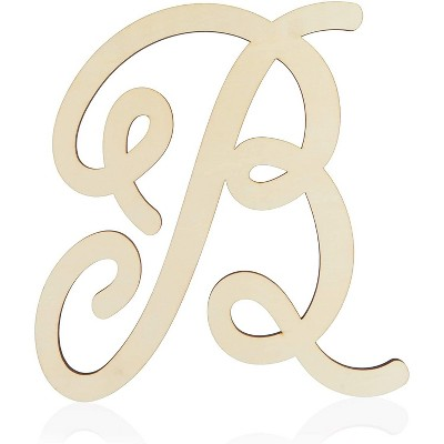Unfinished Wood Monogram Letter B (13 in.)