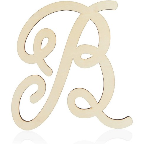 Unfinished Wood Monogram Letter B (13 in.) - image 1 of 2