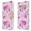MYBAT For Samsung Galaxy S10 5G Purple Fresh Flowers MyJacket Leather Case w/stand - image 2 of 2